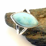 Larimar Sterling Silver Ring Size 7