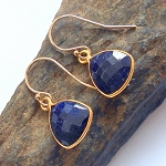 Sapphire Gold Earrings