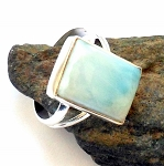 Larimar Sterling Silver Ring Size 9