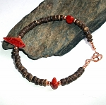 Coral Fish Coconut Shell  Bracelet