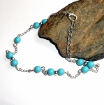 Turquoise Beaded Ankle Bracelet