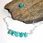 Amazonite Sterling Silver Ankle Bracelet