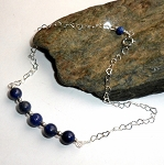 Blue Lapis Gemstone Ankle Bracelet