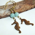 Amazonite Seahorse Earrings