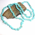 Turquoise Long Chip Necklace