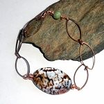 Cow Agate Copper Bracelet