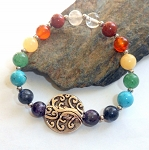 Seven Chakras Tree of Life Bracelet