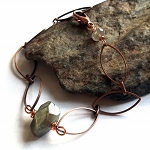 Labradorite Nugget Copper Chain Bracelet