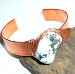 Tree Agate Copper Cuff Bracelet