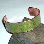Ancient Patina Copper Cuff Bracelet