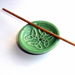 Green Celtic Ceramic Incense Stand