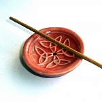 Pink Celtic Ceramic Incense Stand