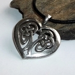 Pewter Celtic Heart Necklace