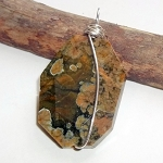 Rainforest Jasper Gemstone Pendant