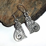 Tibetan Silver Kitty Cat Earrings