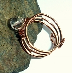 Rock Crystal Copper Ring