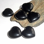 Black Obsidian Pocket Heart