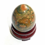 Rainforest Rhyolite Jasper Gemstone Egg