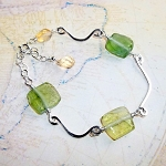 Roman Glass and Citrine Bracelet