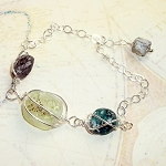 Roman Glass Wire Cage Bracelet
