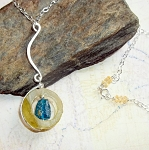 Bottle Neck Roman Glass Necklace