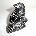 Soapstone Raven Spirit Animal Carving