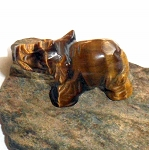 Tigers Eye Elephant Spirit Animal Carving