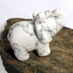 Howlite Elephant Spirit Animal Carving