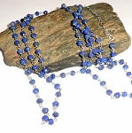 Blue Lapis Rosary Three Way Necklace