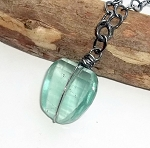 Green Fluorite Nugget Necklace