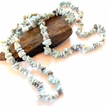 Larimar Long Chip Necklace
