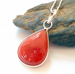 Carnelian Sterling Silver Necklace