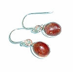 Sunstone Sterling Silver Earrings