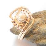Biwa Pearl Sterling Silver Ring Size 8