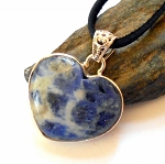 Blue Sodalite Heart Necklace