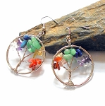 Seven Chakras Tree of Life Earrings