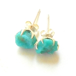 Turquoise Sterling Silver Post Earrings