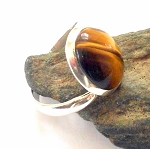 Tigers Eye Sterling Silver Ring Size 7