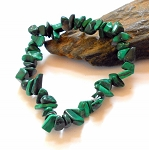 Malachite Chip Stretch Bracelet