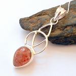 Sunstone Sterling Silver Celtic Necklace