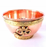 Om Symbol Copper Offering Bowl