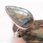 Labradorite Sterling Silver Ring Size 10