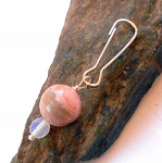 Rhodochrosite and Opalite Pet Charm