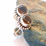 Smoky Quartz Post Earrings