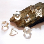 Clear Quartz Sacred Geometry Platonic Solids Set of 7