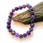 Amethyst 8 mm Stretch Bracelet