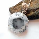 Dendrite Agate Merlinite Sterling Silver Necklace