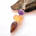 Melody Stone Citrine and Amethyst Necklace