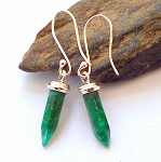 Emerald Sterling Silver Dragonfly Earrings