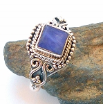 Sapphire Sterling Silver Ring Size 8